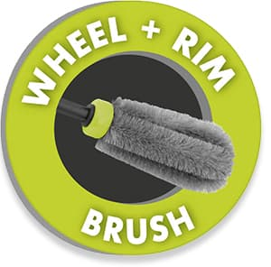 Wheel and rim brush